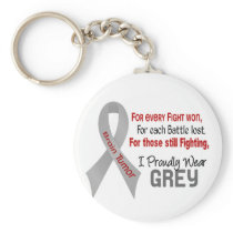 Brain Tumor For Every…..I Proudly Wear Grey 1 Keychain
