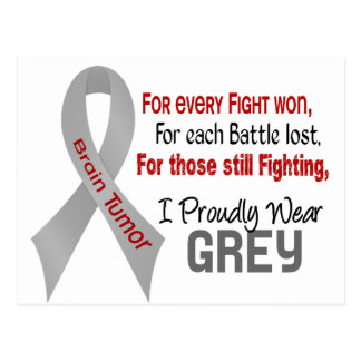 Brain Tumor For Every…..I Proudly Wear Grey 1 Postcard