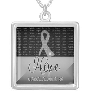 Brain Tumor Hope Matters Personalized Necklace