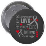 Brain Tumor Hope Words Collage Pins