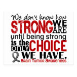 Brain Tumor How Strong We Are Postcard