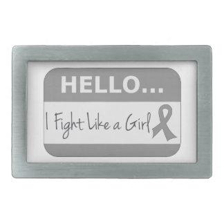 Brain Tumor I Fight Like a Girl Belt Buckle