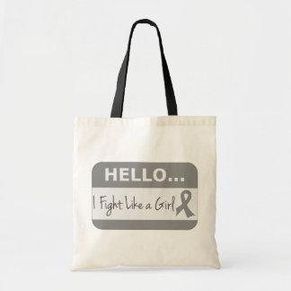 Brain Tumor I Fight Like a Girl Canvas Bag