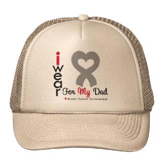 Brain Tumor I Wear Gray Ribbon For My Dad Mesh Hats