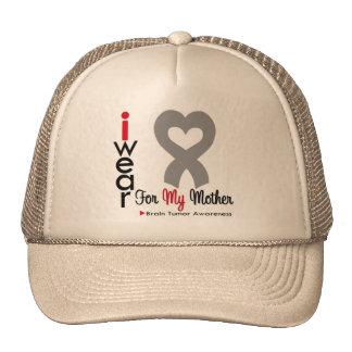 Brain Tumor I Wear Gray Ribbon For My Mother Trucker Hat