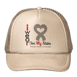 Brain Tumor I Wear Gray Ribbon For My Sister Hat
