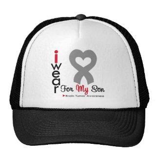 Brain Tumor I Wear Gray Ribbon For My Son Hats