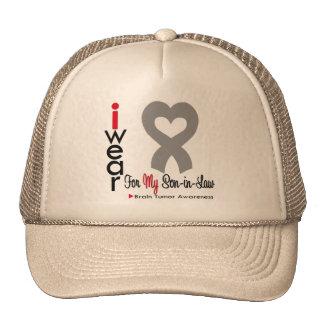 Brain Tumor I Wear Gray Ribbon For My Son in Law Trucker Hat