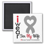 Brain Tumor I Wear Gray Ribbon For My Wife Magnets