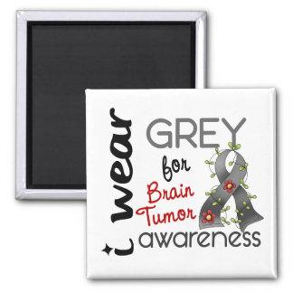 Brain Tumor I Wear Grey For Awareness 43 Refrigerator Magnets