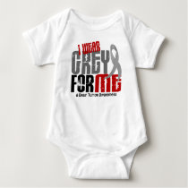 Brain Tumor I Wear Grey For ME 6.2 Baby Bodysuit