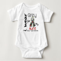 Brain Tumor I Wear Grey For My Aunt 43 Baby Bodysuit