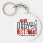 Brain Tumor I Wear Grey For My Best Friend 6.2 Key Chain