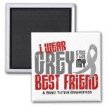 Brain Tumor I Wear Grey For My Best Friend 6.2 Fridge Magnet