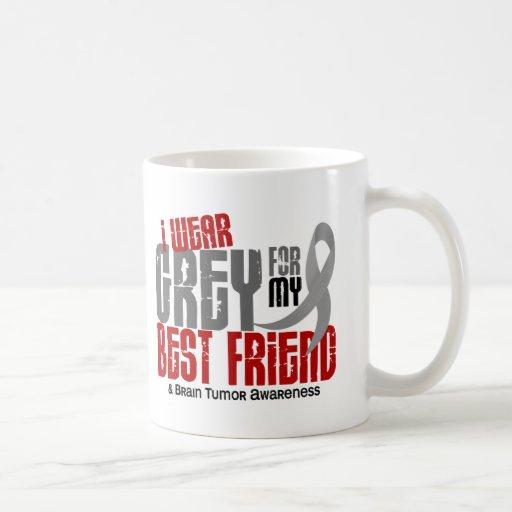 Brain Tumor I Wear Grey For My Best Friend 6.2 Mugs