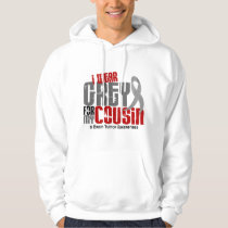 Brain Tumor I Wear Grey For My Cousin 6.2 Hoodie