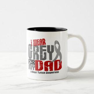 Brain Tumor I Wear Grey For My Dad 6.2 Two-Tone Coffee Mug