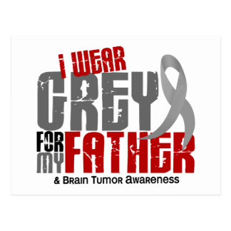 Brain Tumor I Wear Grey For My Father 6.2 Postcard