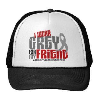 Brain Tumor I Wear Grey For My Friend 6.2 Trucker Hat