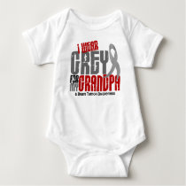 Brain Tumor I Wear Grey For My Grandpa 6.2 Baby Bodysuit