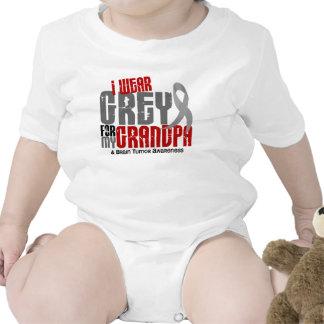 Brain Tumor I Wear Grey For My Grandpa 6.2 Tshirts
