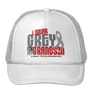 Brain Tumor I Wear Grey For My Grandson 6.2 Hat