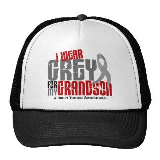 Brain Tumor I Wear Grey For My Grandson 6.2 Trucker Hat