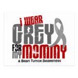 Brain Tumor I Wear Grey For My Mommy 6.2 Postcard