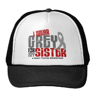 Brain Tumor I Wear Grey For My Sister 6.2 Mesh Hat