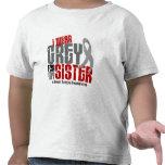 Brain Tumor I Wear Grey For My Sister 6.2 Tshirt