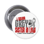 Brain Tumor I Wear Grey For My Sister-In-Law 6.2 2 Inch Round Button