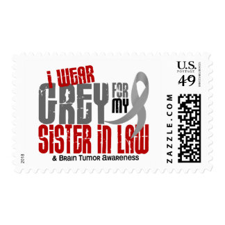 Brain Tumor I Wear Grey For My Sister-In-Law 6.2 Stamps