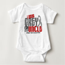 Brain Tumor I Wear Grey For My Uncle 6.2 Baby Bodysuit