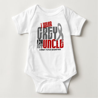 Brain Tumor I Wear Grey For My Uncle 6.2 Baby Bodysuit
