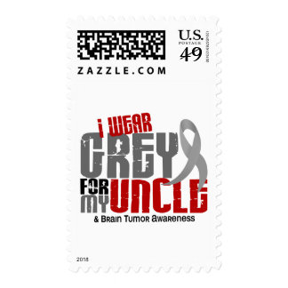 Brain Tumor I Wear Grey For My Uncle 6.2 Postage Stamps