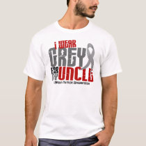 Brain Tumor I Wear Grey For My Uncle 6.2 T-Shirt