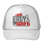 Brain Tumor I Wear Grey For My Wife 6.2 Hats