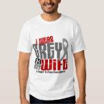 Brain Tumor I Wear Grey For My Wife 6.2 Tee Shirt