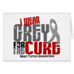 Brain Tumor I Wear Grey For The Cure 6.2 Greeting Card