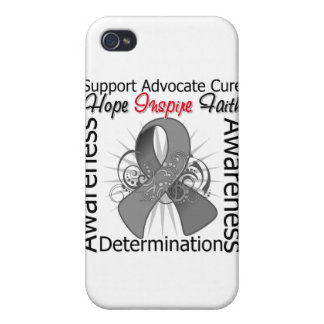 Brain Tumor Inspirations Spiral Ribbon Case For iPhone 4