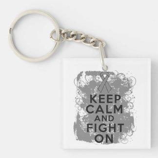 Brain Tumor Keep Calm and Fight On Acrylic Keychains