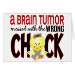 Brain Tumor Messed With The Wrong Chick Greeting Card