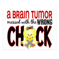 Brain Tumor Messed With The Wrong Chick Postcard