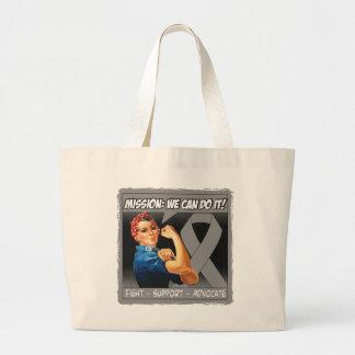 Brain Tumor Mission We Can Do It Jumbo Tote Bag
