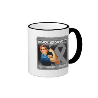 Brain Tumor Mission We Can Do It Ringer Coffee Mug