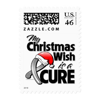 Brain Tumor My Christmas Wish is a Cure Postage