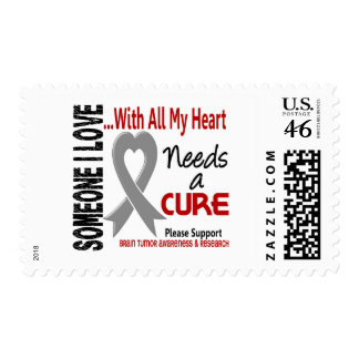 Brain Tumor Needs A Cure 3 Stamp