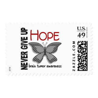 Brain Tumor Never Give Up Hope Butterfly 4.1 Stamp