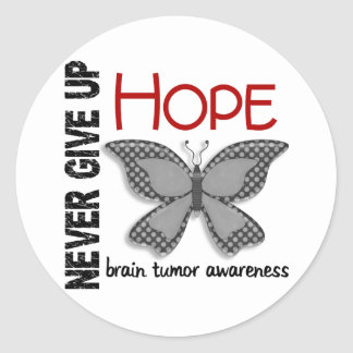 Brain Tumor Never Give Up Hope Butterfly 4.1 Sticker