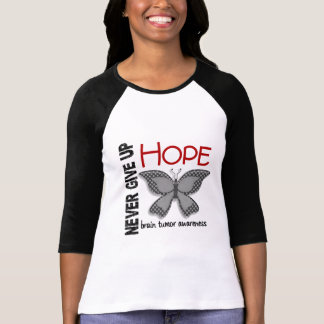 Brain Tumor Never Give Up Hope Butterfly 4.1 T-Shirt